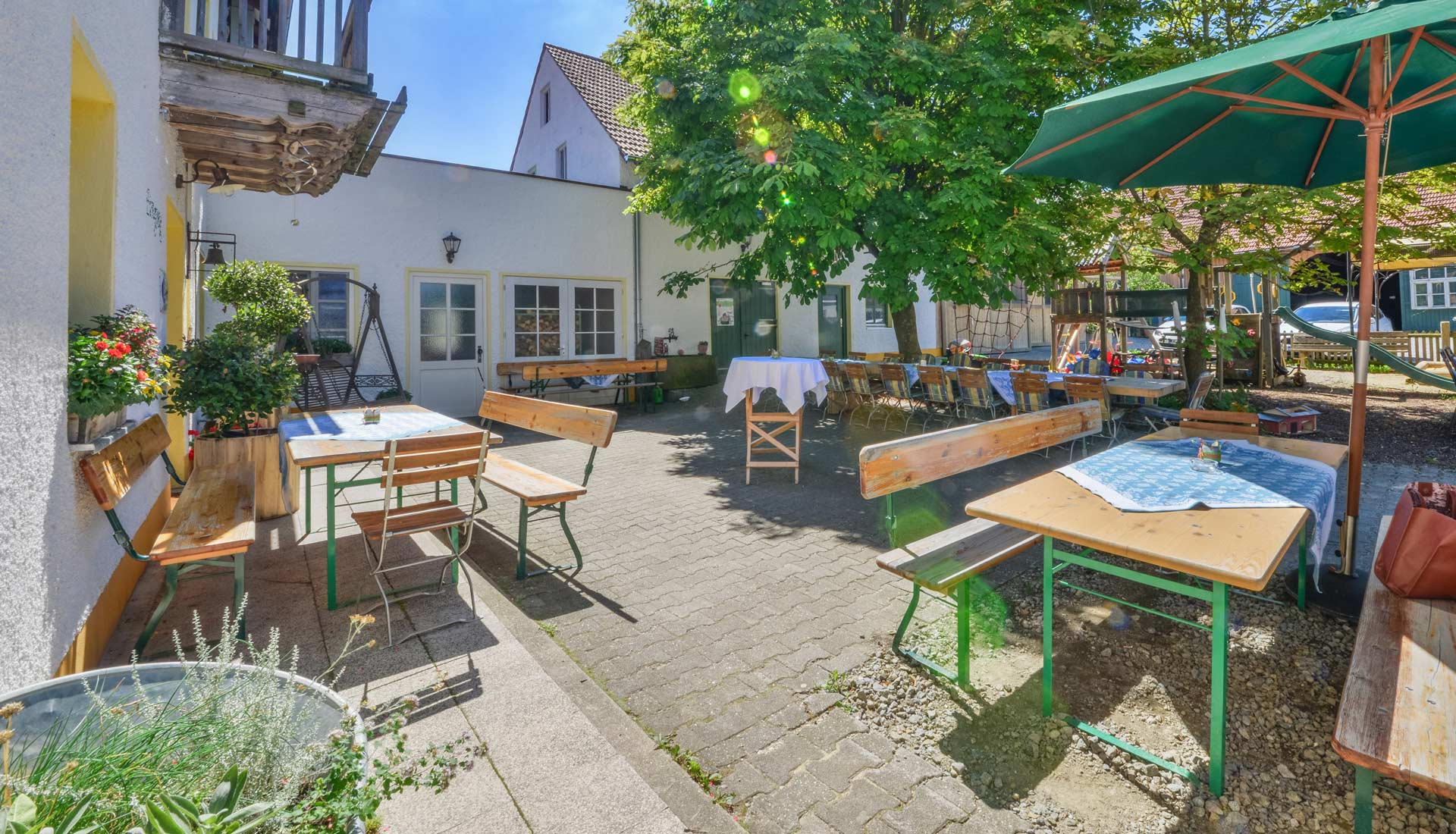 Biergarten vom Gasthof Pritscher