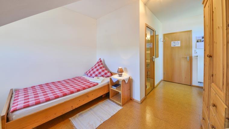 Einbettzimmer im Hotel Pritscher