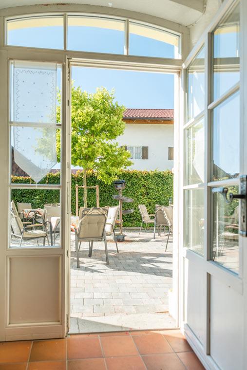 Terrasse vom Gasthof Pritscher